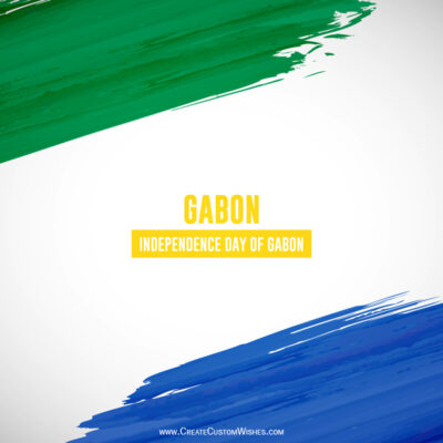 Gabon Independence Day with Name Wishes