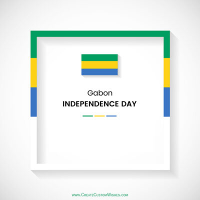 Greeting Cards for Gabon Independence Day 2021