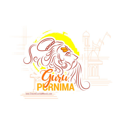 Happy Guru Purnima with Name Greetings
