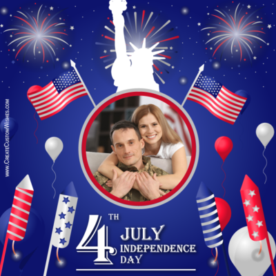 Make 4th of July Greeting with Photo