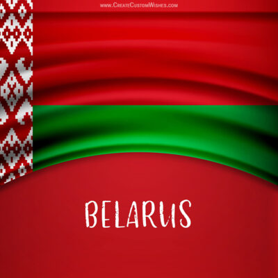 Personalize Belarus Independence Day Greeting