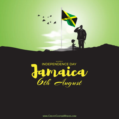 Personalize Jamaica Independence Day Greeting