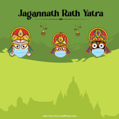Stay Home, Safe Rath Yatra Greeting Card