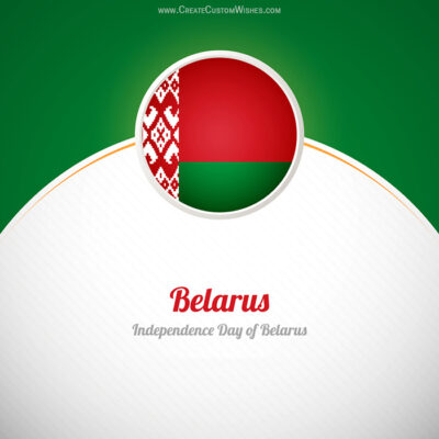 Write Name on Belarus Independence Day Pic