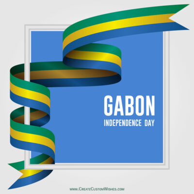 Write Name on Gabon Independence Day Pic