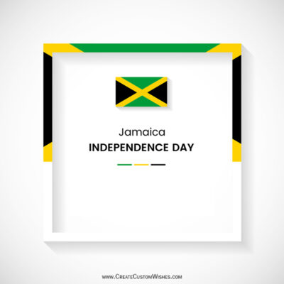 Write Name on Jamaica Independence Day Pic