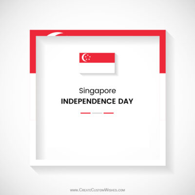 Write Name on Singapore National Day Pic