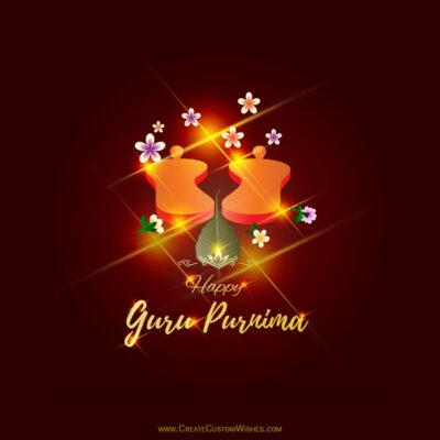 Write your name on guru purnima card