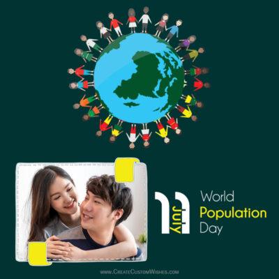 Add Name & Photo on World Population Day Image