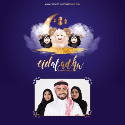 Add Photos on Eid al-Adha Wishes Image