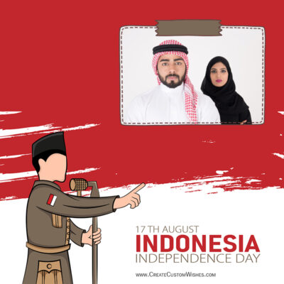 Add Photos on Indonesia Independence Day Image