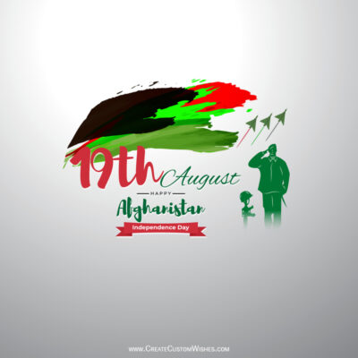 Afghanistan Independence Day with Name Wishes