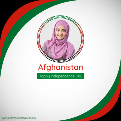 Afghanistan Independence Day with Photo Frame