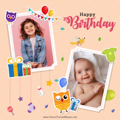 Birthday Cards For Sister With Photo And Name