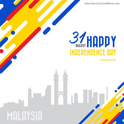 Create 31st August Malaysia National Day Greetings