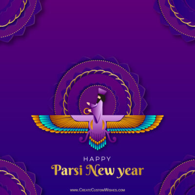 Create Online Parsi New Year Greeting Cards