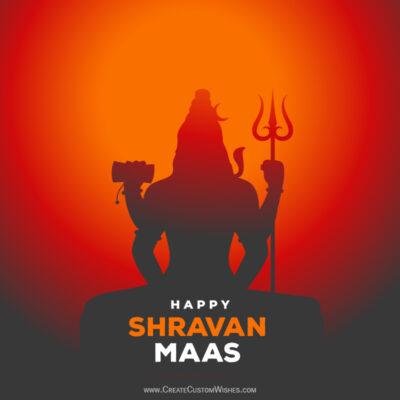 Create Online Shravan Maas Greeting Cards