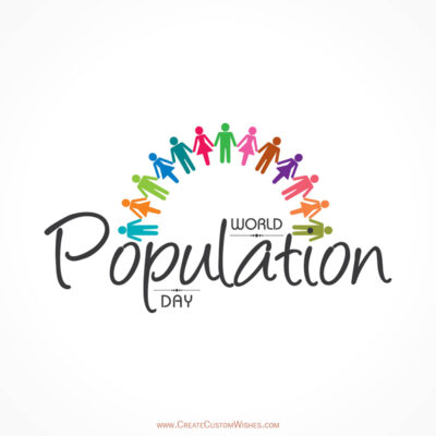 Create World Population Day Card for Company