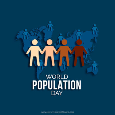 Create World Population Day Greeting Cards