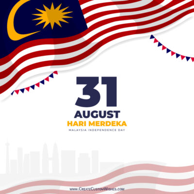 Editable Malaysia Independence Day Wishes Image