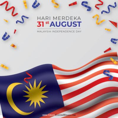 Greeting Cards for Hari Merdeka 2021 Malaysia