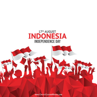 Greeting Cards for Indonesia Independence Day 2021