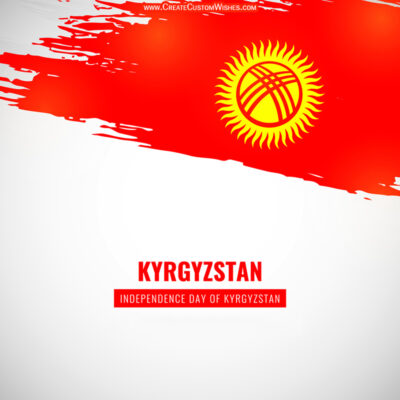 Greeting Cards for Kyrgyzstan Independence Day 2021