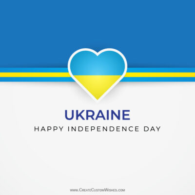 Greeting Cards for Ukraine Independence Day 2021