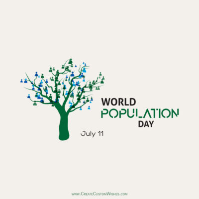 Greeting Cards for World Population Day 2021