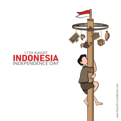 Indonesia Independence Day with Name Wishes