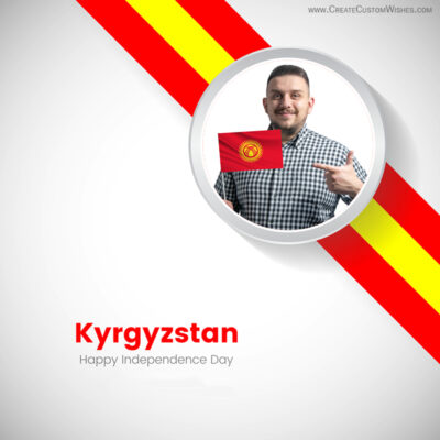 Kyrgyzstan Independence Day with Photo Frame