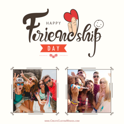 Online Create Best Friend Collage with Photos & Name - Friendship Day