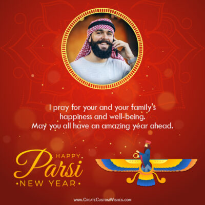 Parsi New Year 2021 Wishes with your Photo