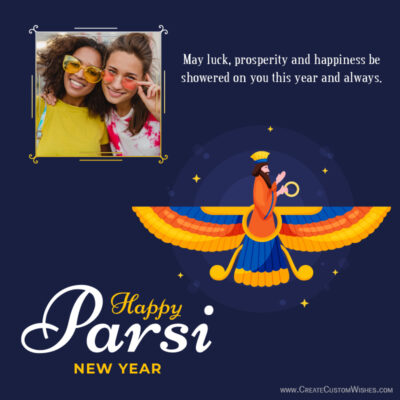 Parsi New Year Wishes with Name & Photo