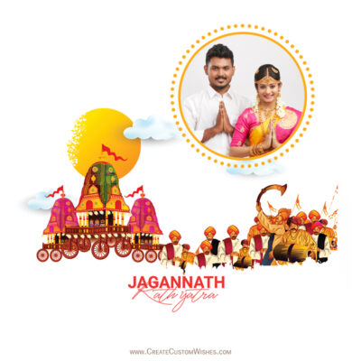 Rath Yatra Wishes with Photo Frame