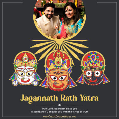 Rath Yatra Greeting with Photo & Name