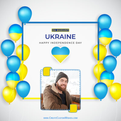 Ukraine Independence Day with Photo Frame
