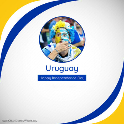 Uruguay Independence Day with Photo Frame