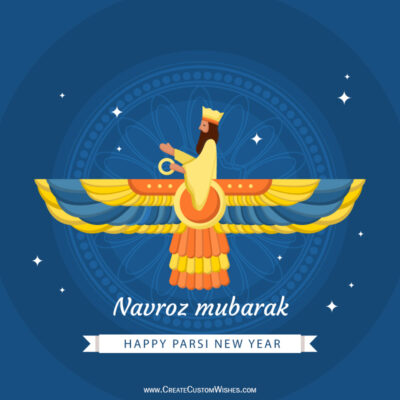 Write Name, Text, Quote on Navroz Mubarak Wishes Image