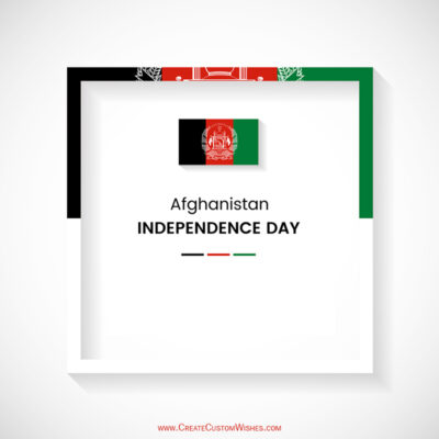 Write Name on Afghanistan Independence Day Pic