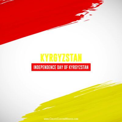Write Name on Kyrgyzstan Independence Day Pic