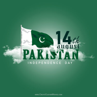 Write Name on Pakistan Independence Day Pic