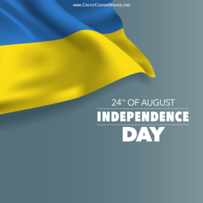 Write Name on Ukraine Independence Day Pic