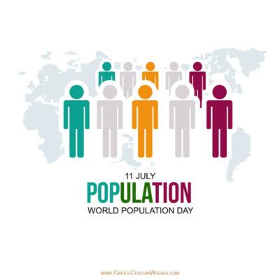 Write Name on World Population Day Image