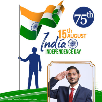 75th Independence Day Wishes with Photo