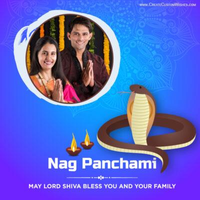 Add Photo on Nag Panchami Wishes Image