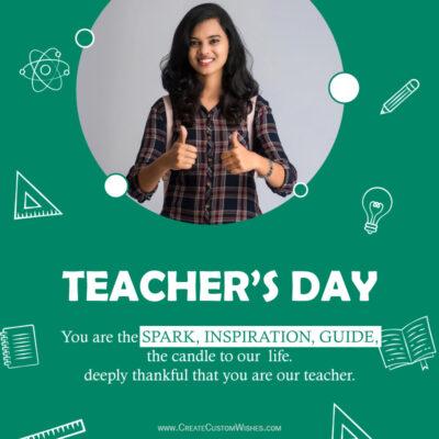 Add Photo on Teachers Day Greeting Card