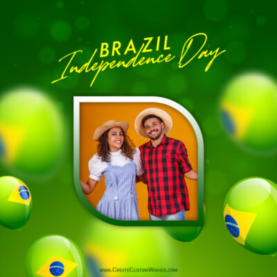 Add Photo on Brazil Independence Day Image
