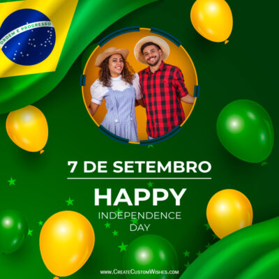 Brazil Independence Day with Photo Frame