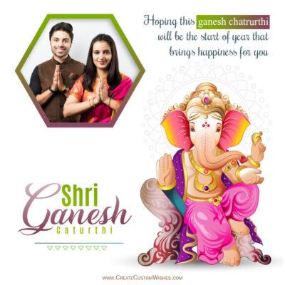 Create Ganesh Chaturthi Image with Photo for Whatsapp Status